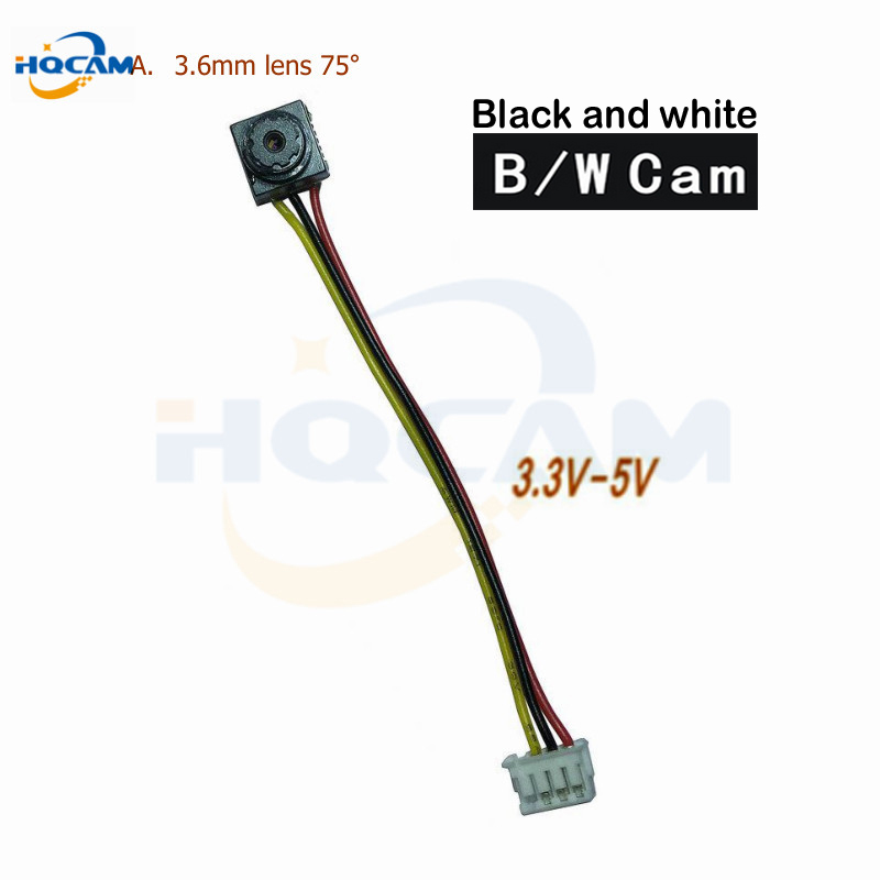 HQCAM B\W Size 8x8mm 600tvl CMOS Security Indoor CCTV Black and white camera 3.6mm Lens FPV Mini Camera Home Video Cam cndst cctv sony ccd black and white mini square camera low lux 22x22mm 480tvl 600tvl mini b w industrial camera 3 6mm board lens