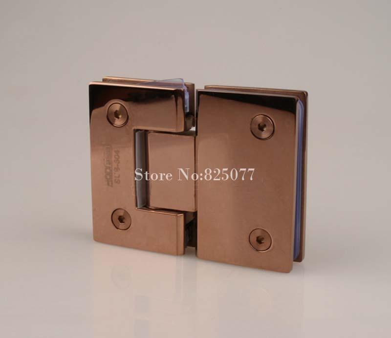 Bathroom Door Hinges : Rose gold degree hinge open stainless steel glass