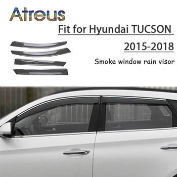 Atreus 1set ABS For 2018 2017 2016 2015 Hyundai Tucson Accessories Car Vent Sun Deflectors Guard Smoke Window Rain Visor