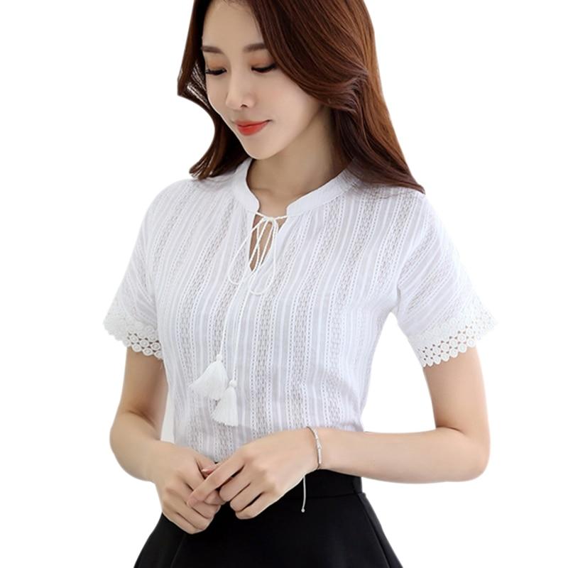 Blusa de algodón de verano para mujer, camisa de manga