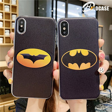 Cute cartoon Batman Superman Iron Man Marvel Comics Hero Case For iPhone XS MAX X XR iPhone 7 8 6S Plus 10X Silicone Phone Cases цена