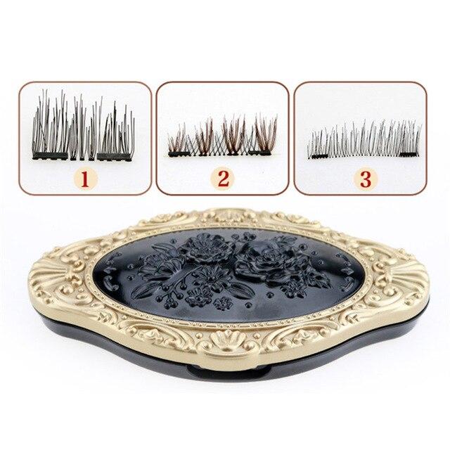 False Magnetic Eyelashes, 3D Reusable Fake 5