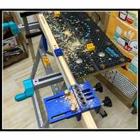 08400 log tenon hole punch combo / triple punch locator woodworking hole saw Woodworking hole opener DIY tools