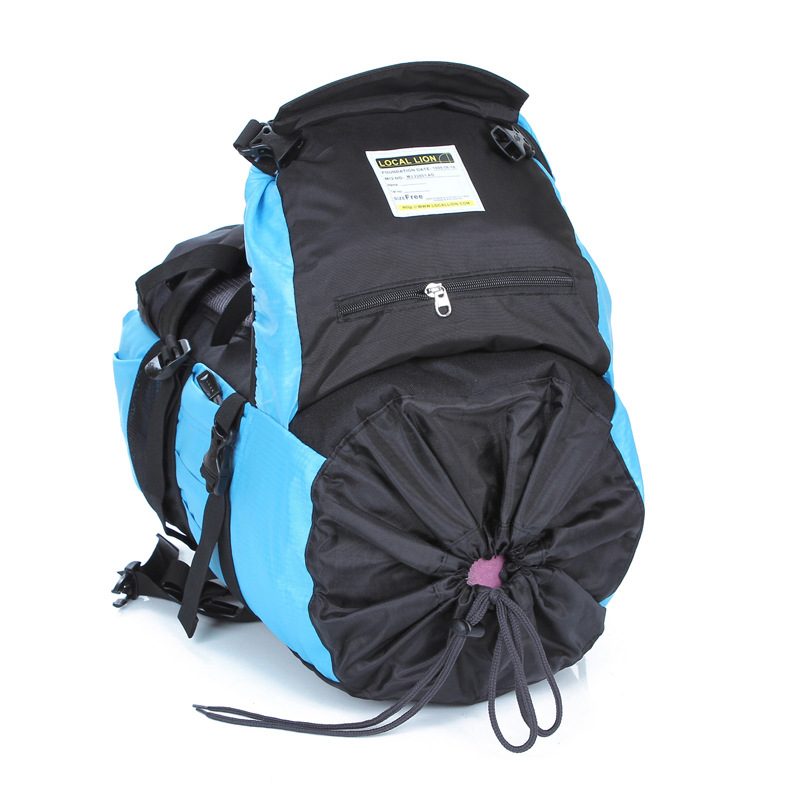 Professionla Outdoor Backpack Waterproof Nylon 45L Large Capacity Mountaineering Camping Hiking Rucksack Travel Bags 5