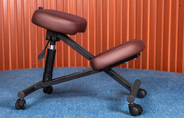 Ergonomically Designed Knee Chair Leather 2 Color Coffee/Black Office Kneeling Chair Ergonomic Posture Chair  Design
