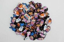 100 unids/lote accesorios de dijes de zapatos Doc, decoración de zapatos fit Clog para regalo de niños