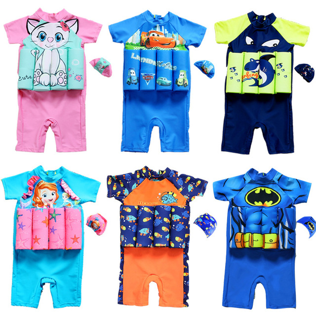 c8706246d9eb2 Kids Swimwear For Girls Swimming Suit Junior Swimsuit Bathing Suits 2018  Boys Drying Aids Children Floating Rayon Animal Sierra