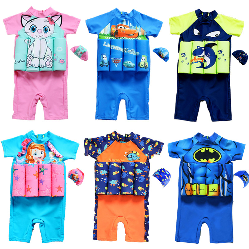 Kids Swimwear For Girls Swimming Suit Junior Swimsuit Bathing Suits 2018 Boys Drying Aid ...