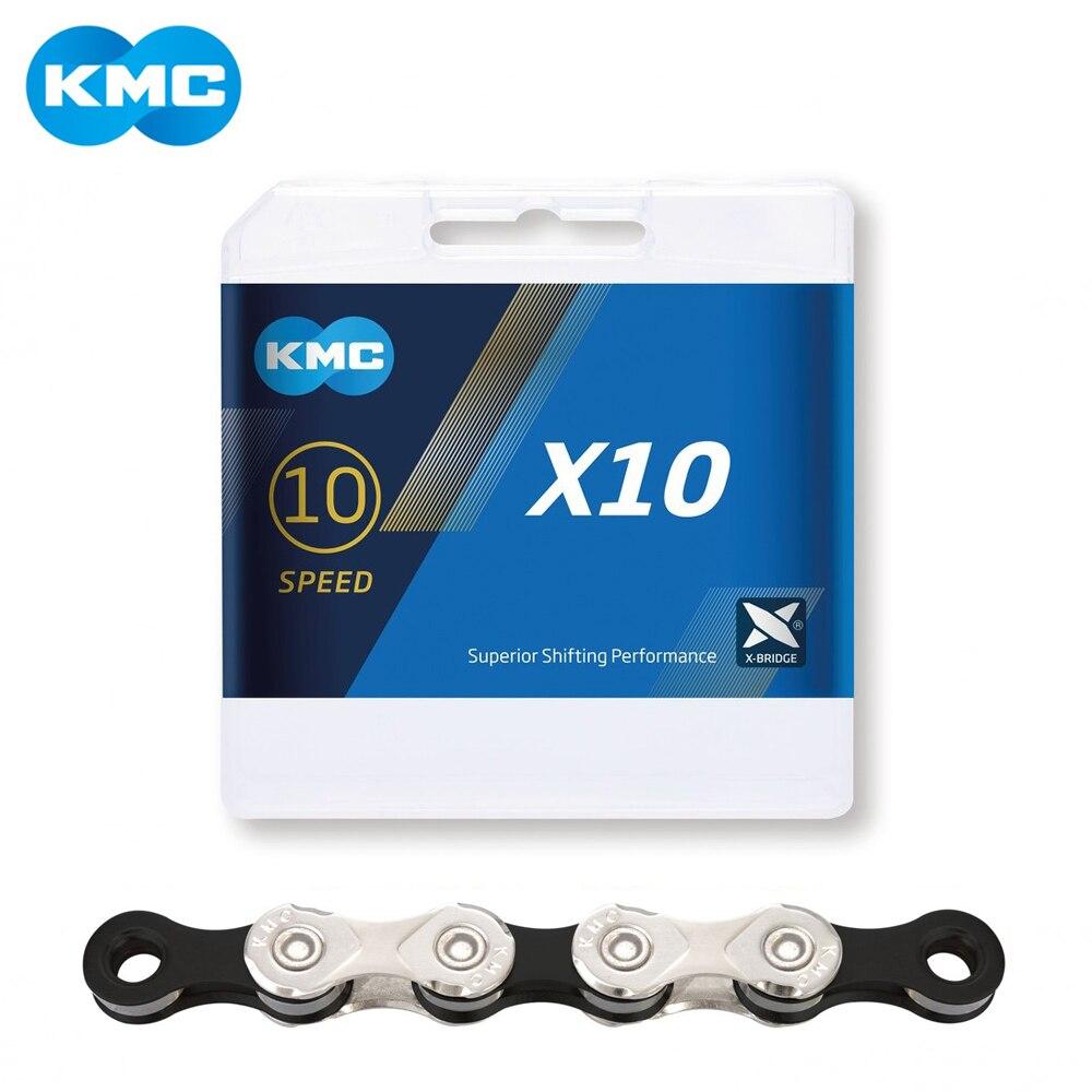 KMC X10 X10.93 MTB Road Bike Chain 116L 10 Speed Bicycle Chain Magic Button