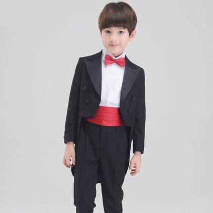 New fashion baby boys kids children tuxedos suits boy suit for weddings formal black host tuxedo dress wedding boy suit 2018 formal party prom dress men wedding suits with pant black velvet shawl lapel slim fit tuxedos for men groom suit bridegroom