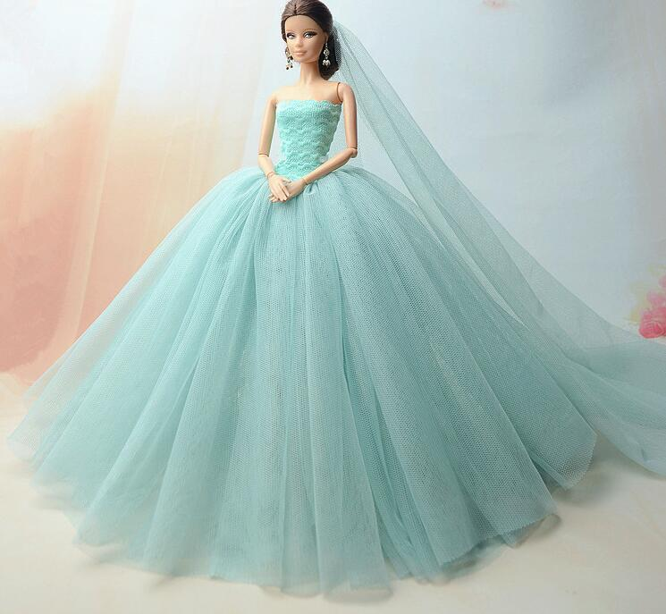 Special Offer The Original For Barbie Doll Clothes Wedding Dress  Multilayer Mermaid Dress Princess Dress Cake Skirt