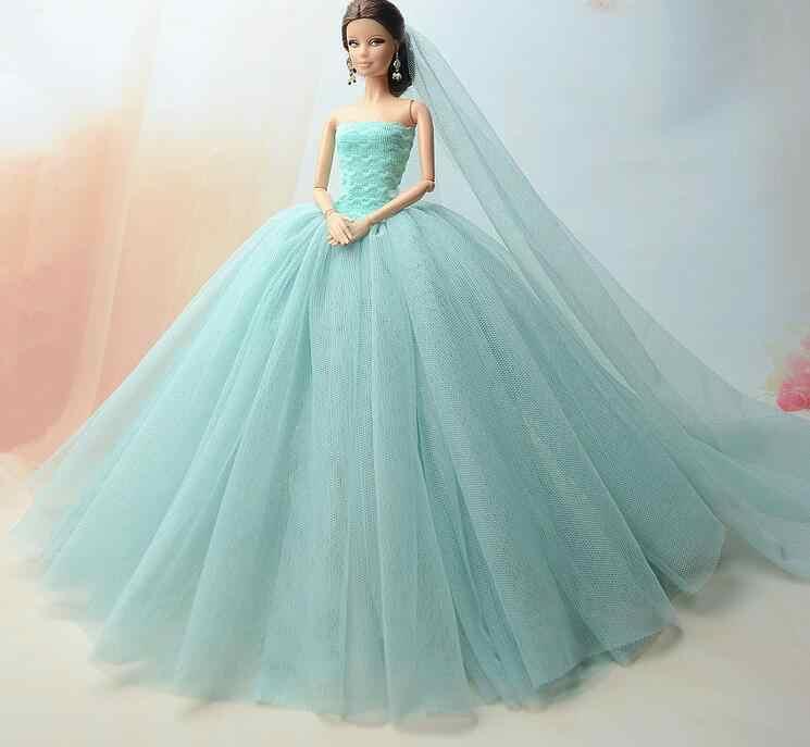 Special offer the original for barbie doll clothes wedding dress Multilayer  mermaid dress princess dress cake 49df8f43875b