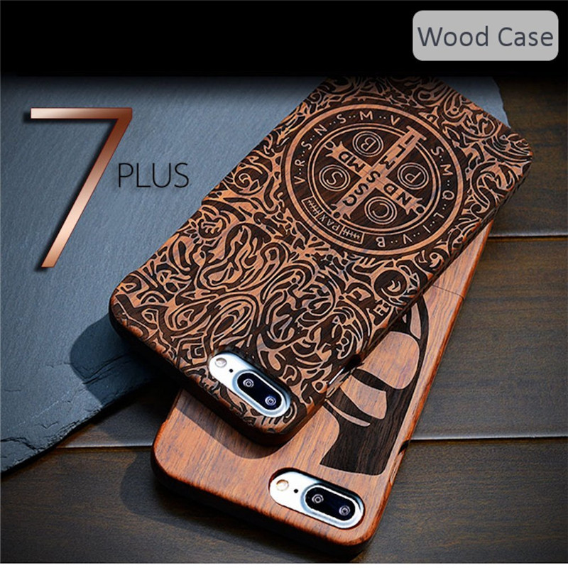 iPhone 7 Plus 5.5 Real Wood Case engraved, Genuine Handmade 100% Natural Wood Made from Bamboo (18)