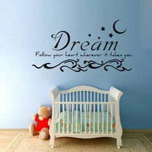 free shipping hot sell dream follow your heart wherever it takes you vinyl Wall quote Sticker for kids bedroom decoration 50pcs lot bt139 800e bt139 800 bt139 good qualtity hot sell free shipping buy it direct