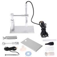 2MP Digital 500X 8LED Microscope Usb Microscope Otoscope PCB Inspection Camera Endoscope Loupe Webcam