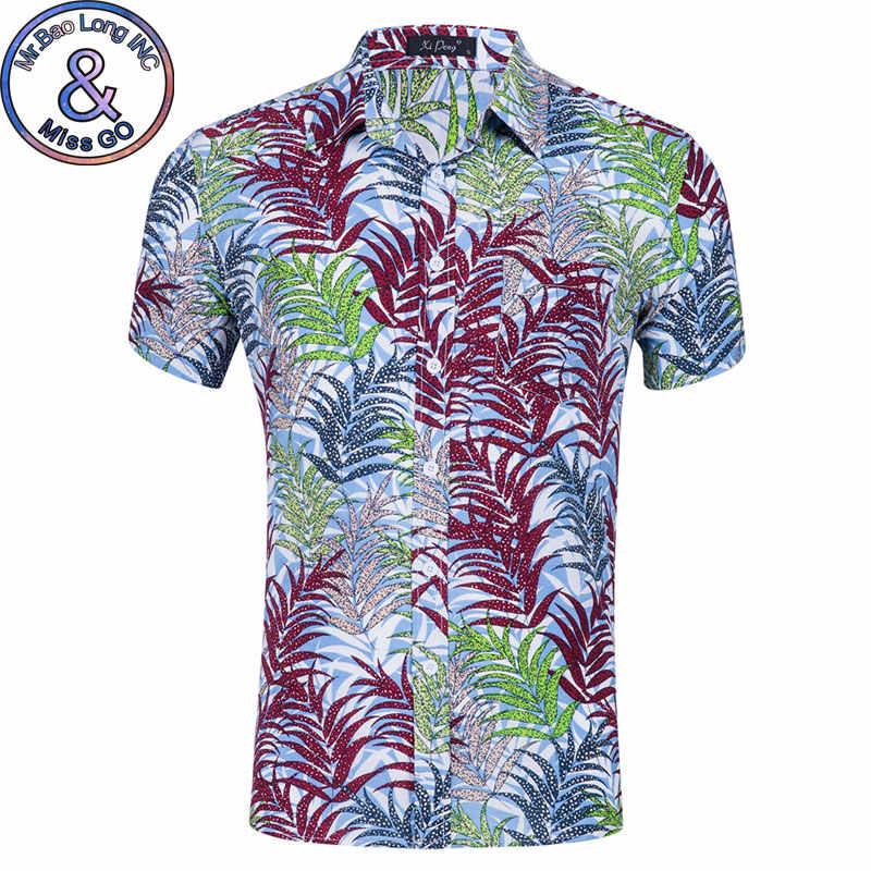 Мужская Летняя Пляжная гавайская рубашка 2018 летние новые мужские рубашки в цветах с коротким рукавом повседневные праздничные Топы Рубашки Chemise Homme