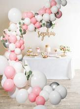 METABLE 100pcs Pink balloons Beaumode DIY White Balloon Garland Arch KIT Baby Shower Bridal Showers Wedding Backdrop Venue