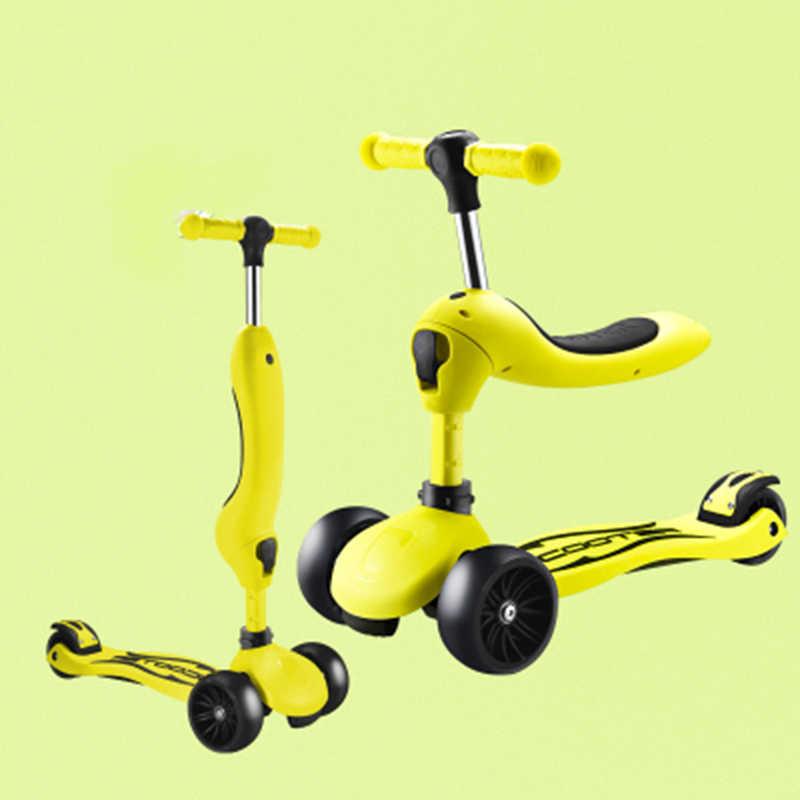 Kinderkleding scooter loopstoeltje balans drie-in-een yo slip twist slide skateboard