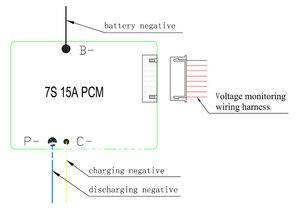 Image 5 - E จักรยานแบตเตอรี่7วินาที24โวลต์15A BMS 24โวลต์แบตเตอรี่ลิเธียมBMSสำหรับจักรยานไฟฟ้า24โวลต์8Ah 10Ah 12Ah li ionกับฟังก์ชั่นความสมดุล