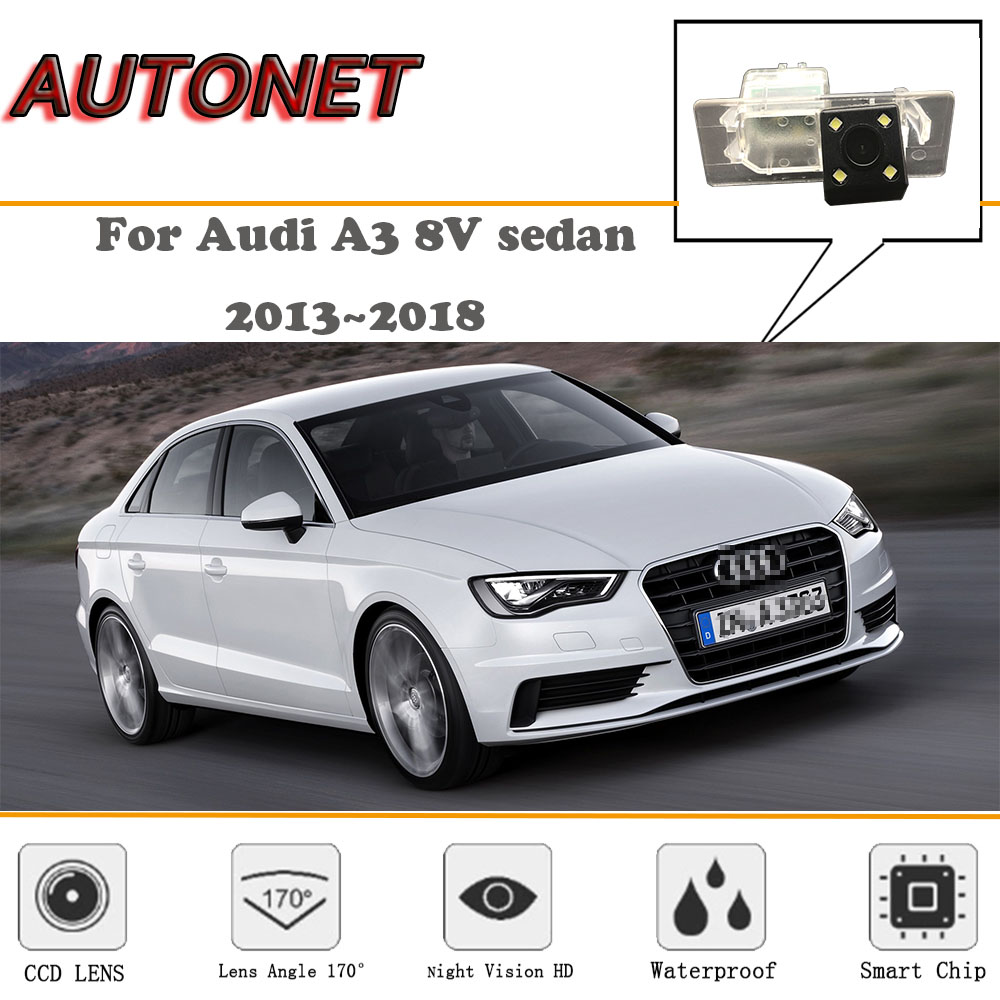 AUTONET Rear View camera For <font><b>Audi</b></font> <font><b>A3</b></font> <font><b>8V</b></font> <font><b>sedan</b></font> 2013~2018/CCD/Night Vision/Reverse Camera/Backup Camera/license plate camera image