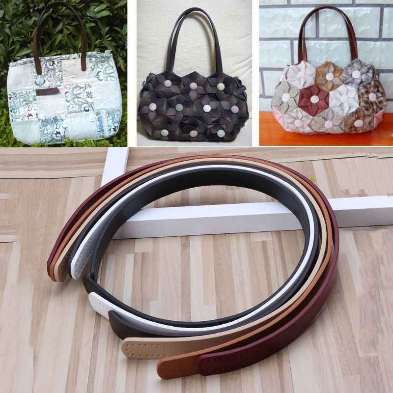 1 Pc Women Girl PU Leather Purse Shoulder Handbag DIY Sewing Strap Handle Replacement 6 Color Bag Accessories