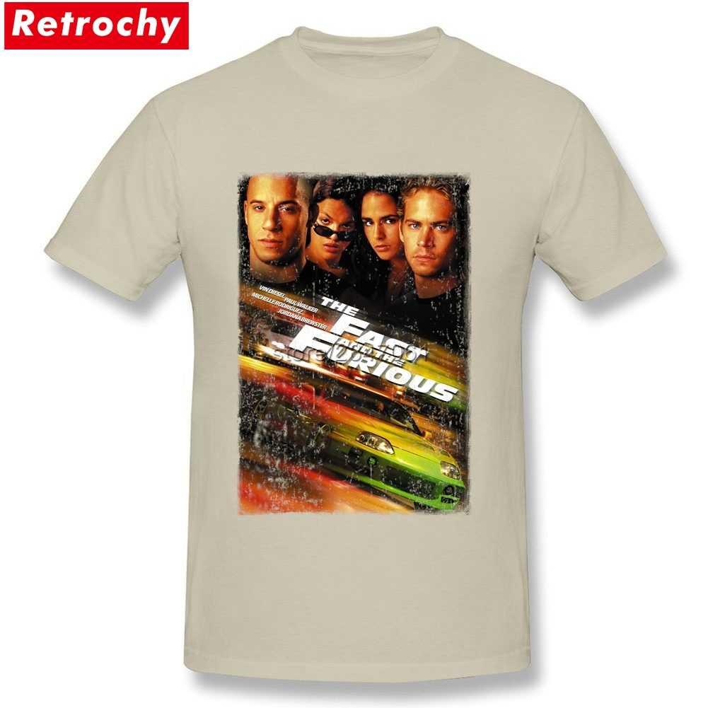 Luksusowa marka szybka i wściekła koszulka w stylu Vintage mężczyźni mężczyzna Retro koszulka z krótkim rękawem dla chłopaka prezent duże rozmiary odzieży koszule