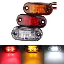 1pc 24v 12v Led Side Marker Lights for Trailer Trucks Caravan Side Clearance Marker Light Lamp  Amber Red White 9-36V
