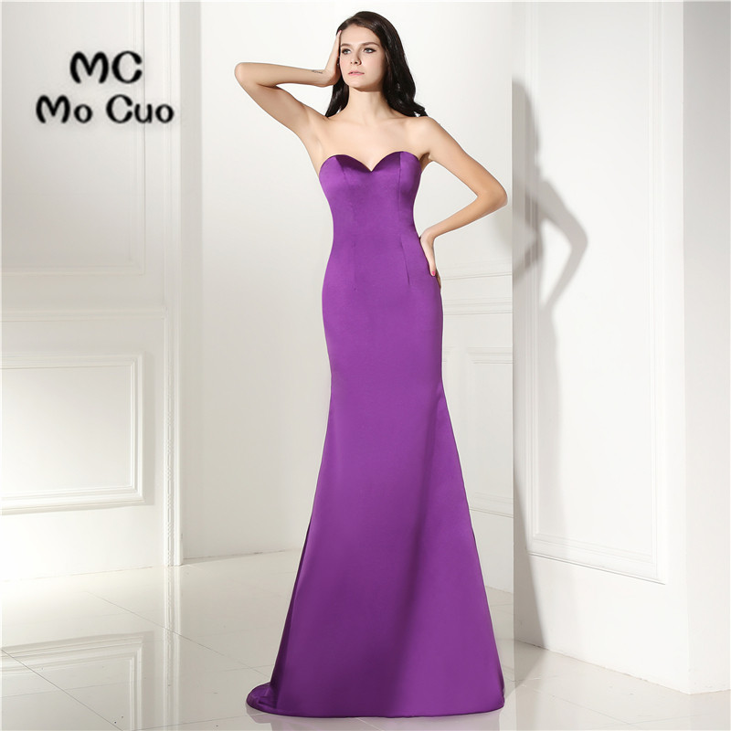 2017 Sexy Mermaid Prom dresses Sweetheart Vestidos de fiesta imported party dress Simple Formal Evening Prom Dress