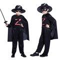 Хэллоуин детская одежда мальчиков Зорро Масках рыцарь костюм маскарад Косплей одежда Ночные одежды
