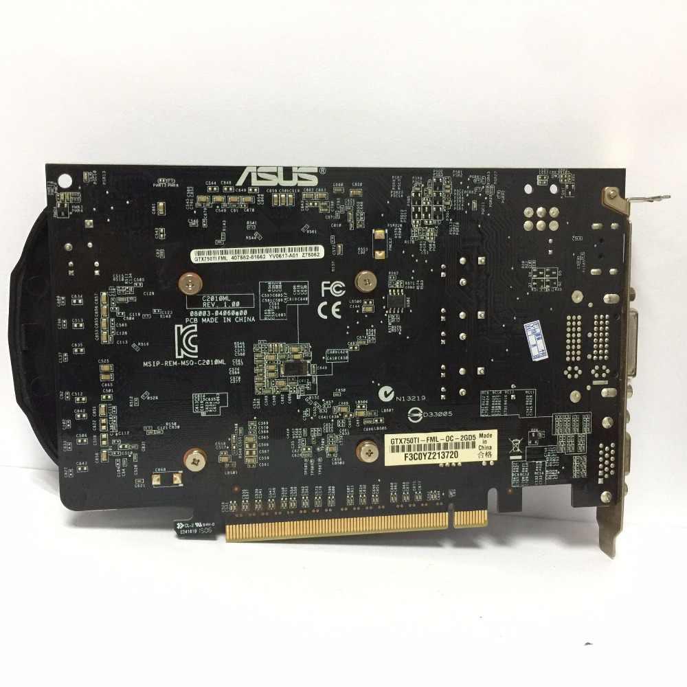 Asus GTX-750TI-OC-2GB GTX750TI GTX 750TI 2G D5 128 Bit DDR5 PC MÁY Tính Để Bàn Loại Card Đồ Họa PCI Express 3.0 Đồ Họa máy tính thẻ