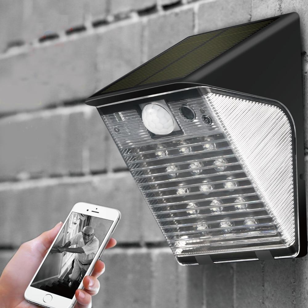 YobangSecurity 1080 P WIFI sans fil extérieur étanche DVR caméra de sécurité lumière LED lampe PIR détection de mouvement enregistrement vidéo