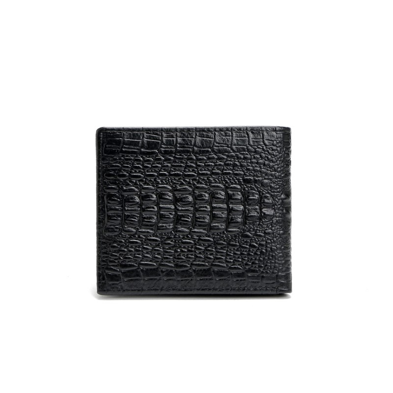 SAFEBET Brand Men Wallet Luxury Fashion Genuine Leather Mini Crocodile Pattern Short Personality Wallet Multi-card bit Wallet