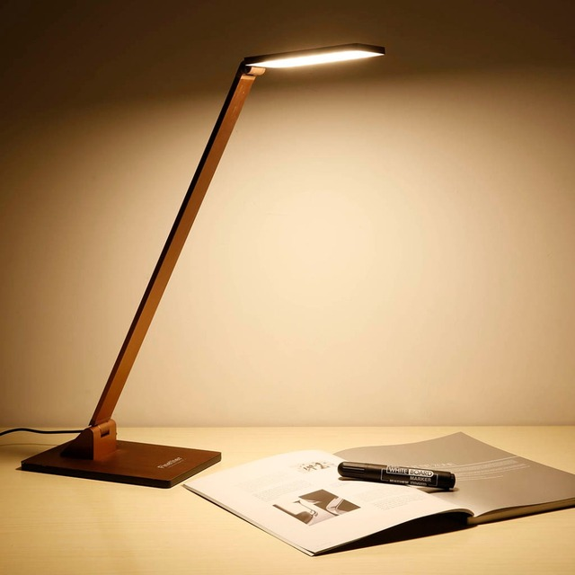 10w Touch Activated Square Head Folding Aluminum Led Desk Lamp Table With 3 Brightness