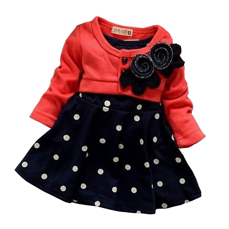 BibiCola Baby Girl Vestidos Ropa Infantil Diseño Empalmado Vestido - Ropa de bebé