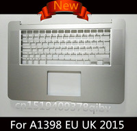New For MacBook Pro 15 Retina A1398 UK EU Top Case Palmrest Topcase Without Keyboard 2013