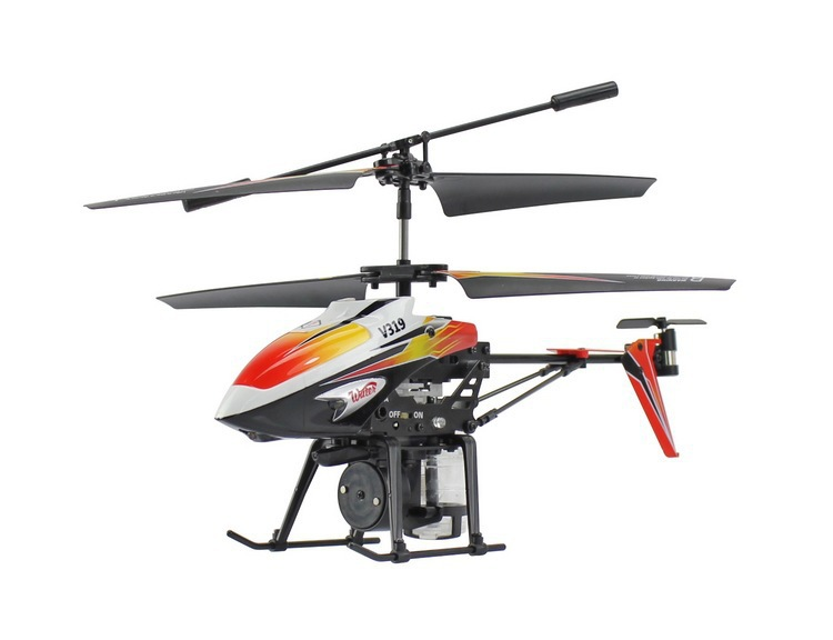 New Arrival WL Toys V319 RC Helicopter Shoot Water Shooting Jet Spraying Mini USB Charger RTF