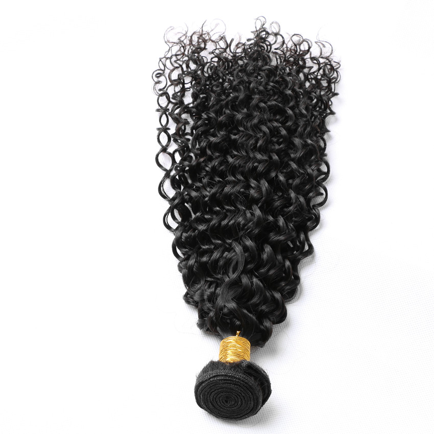 ФОТО Halo Lady Malaysian Human Hair Jerry Curly Hair Weaves 10 to 30 inches Natural Black Color 1 Piece Lot 100G Free Shipping