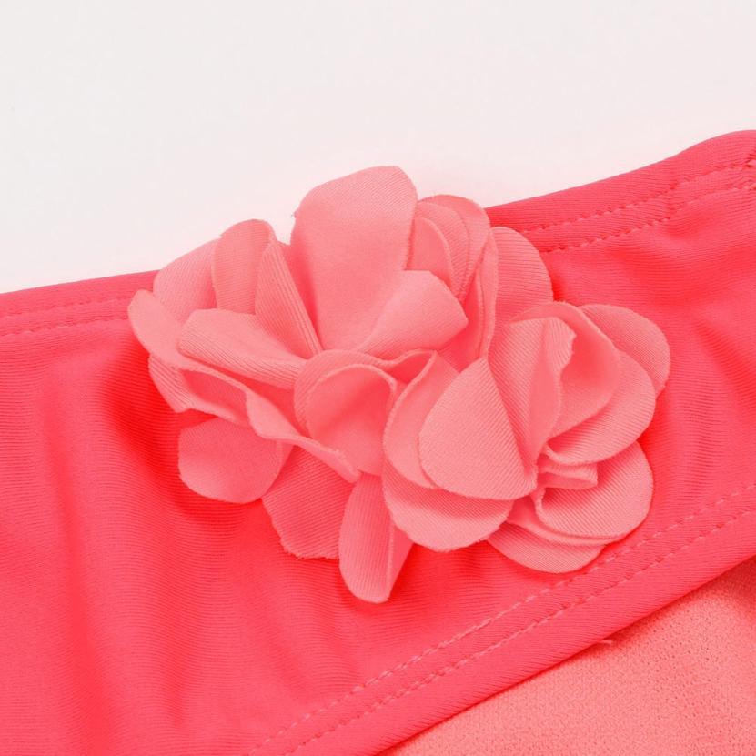 Grils Swimwear Children Baby Girl Solid Appliques Bikini Set Swimwear Swimsuit Bathing Clothes Beachwear Swimming #147