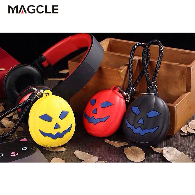 2016 New Hot Pumpkin Power Bank Real 2000Mah Emoji Portable Battery Charger For Iphone6s 7 7plus Samsung PowerBank For Christmas
