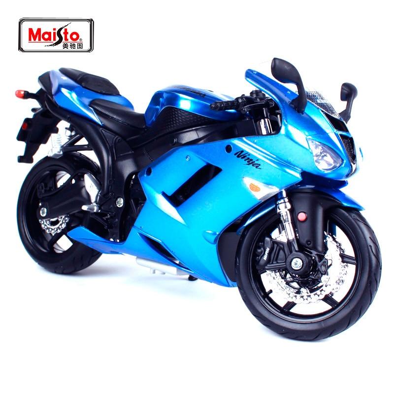 Maisto 112 Moto Kawasaki Ninja Zx 6r Bleu Rouge Modèle Livraison