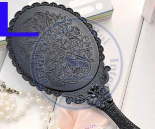 Gran gracia portátil de bolsillo espejo de plástico flor vintage espeleología mano Cosmética Maquillaje Wholesale