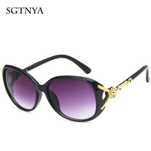 2019 new sunglasses women fashion flower decorative anti-UV wild street glasses