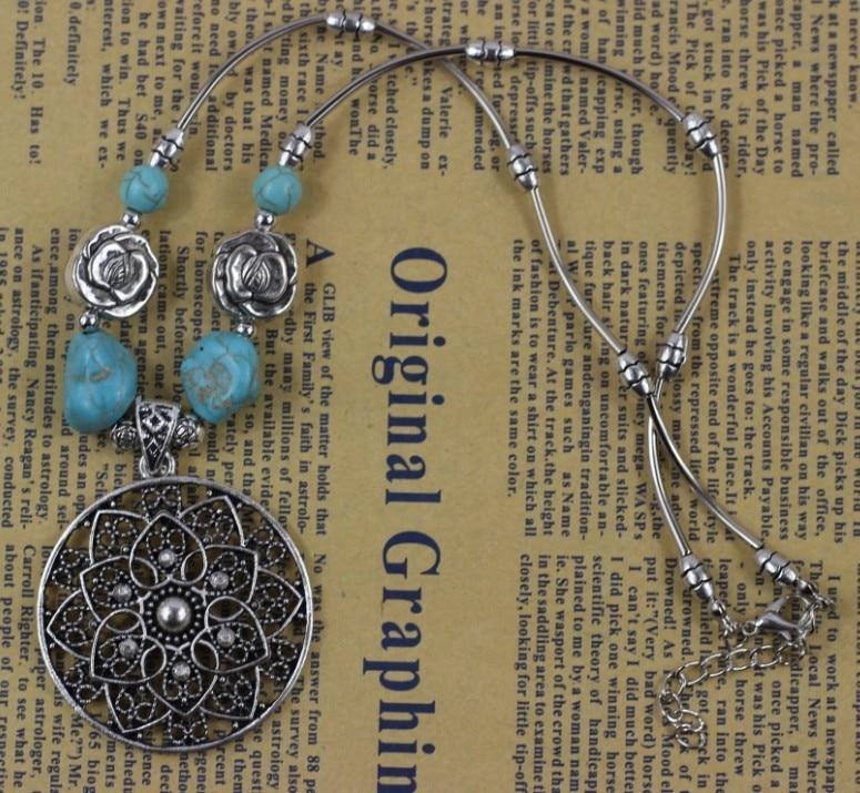 2df21d80e11c Joyería Al por mayor de Europa plata tibetana declaración vintage Collares  Tallados collar y colgantes para mujer