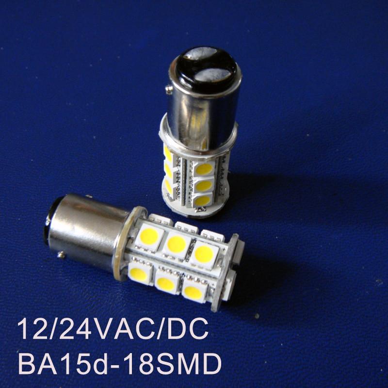 High quality 5050 12/24VAC/DC 3W 1142 led Warning Signal lights BA15D led Yacht Boat Ship bulb Lamps 24V free shipping 2pcs/lot