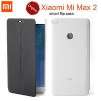 100 Original Xiaomi Mi Max 2 Smart Flip PU Leather Case Cover With Stand Holder 6