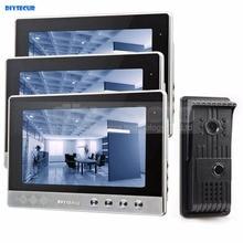 Diysecur 10 дюймов телефон видео домофон Дверные звонки + 700 ТВ линии HD LED Ночное видение Камера 1 В 3