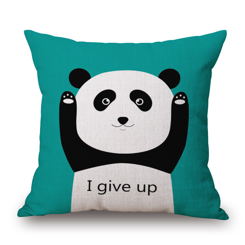 Maiyubo 45X45cm Animal Cushion Cover Cute Panda Car Decorative Throw  Pillowcase For Sofa Luxury Style Cojines Almofadas CC420