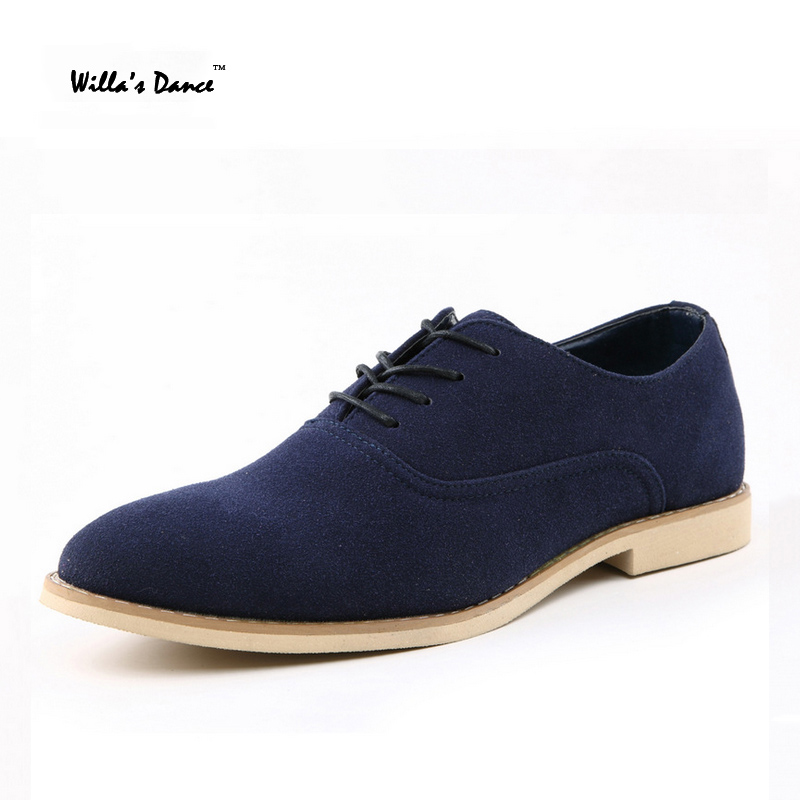 willas dance suede shoes men 2016 fashion flats office shoes high quality british style pointed toe branch office shoe