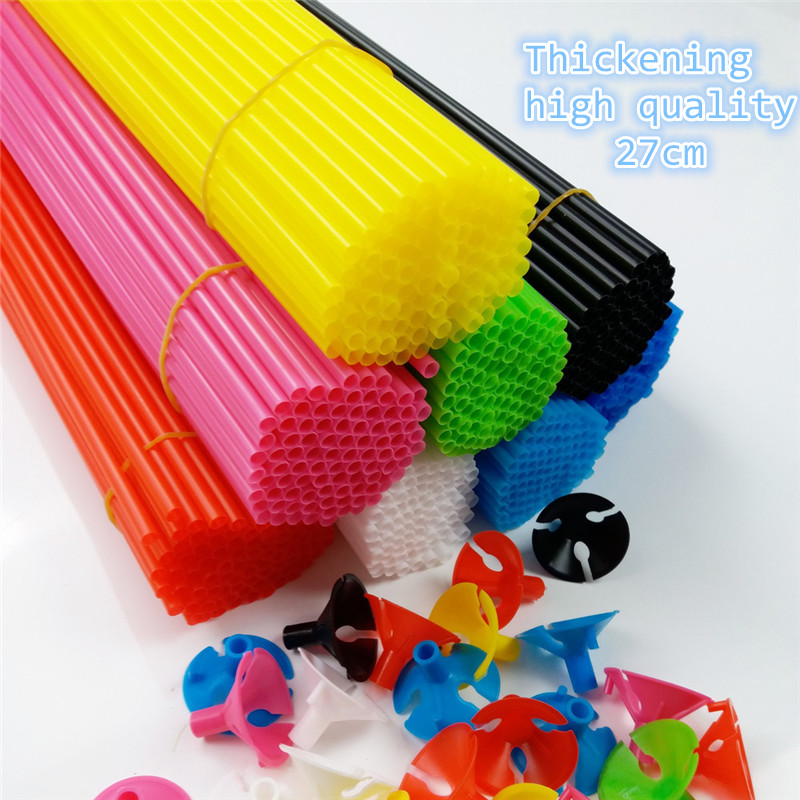Best Seller 100pcs 27cm Balloon Accessories Balloon Holder Sticks with cups Thic