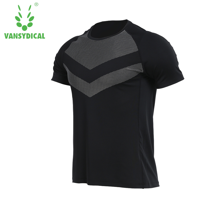 Vansydical Summer Newest Plus Size Mens Running T-shirts Outdoor Fitness Training Basketball Short Sleeve Sports Shirts Gym Top